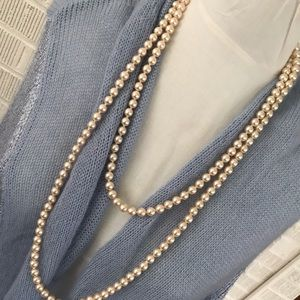 Long strand vintage faux pearls